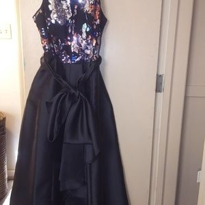 Black and sequin evening dress